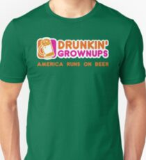 Drunkin Grownups (America Version) Unisex T-Shirt
