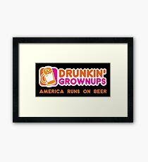 Drunkin Grownups (America Version) Framed Print