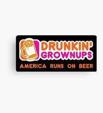 Drunkin Grownups (America Version) Canvas Print