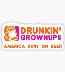 Drunkin Grownups (America Version) Sticker