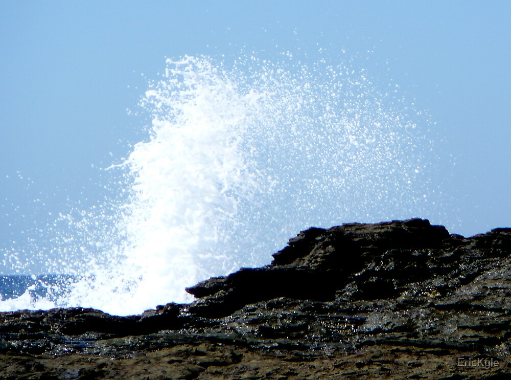 WHITE SPRAY AT HIGH TIDE by EricKyle