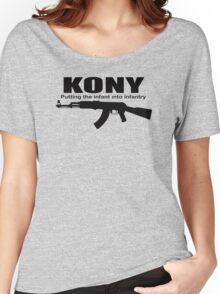 Kony Putting The Infantry Women's Relaxed Fit T-Shirt