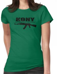 Kony Putting The Infantry Womens Fitted T-Shirt