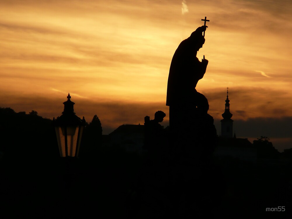Sunset in Prague by mon55