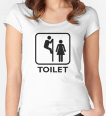 Toilet Cubicle Women's Fitted Scoop T-Shirt