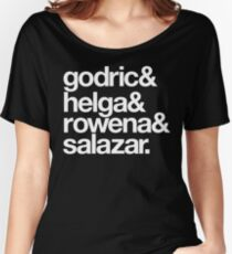 Teachers and Wizards-White Text Women's Relaxed Fit T-Shirt