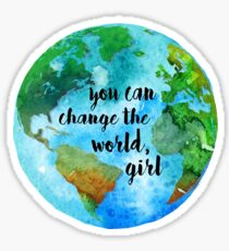 You Can Change The World, Girl Sticker