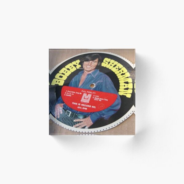 Bobby Sherman Cereal Box Record Picture Disc Acrylic Block