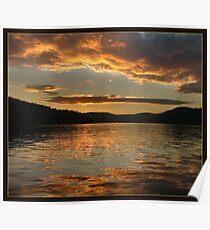 Golden sunset at Ku-ring-gai waters Poster