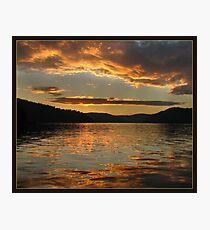 Golden sunset at Ku-ring-gai waters Photographic Print