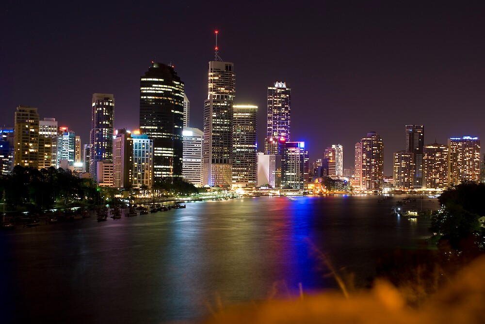 Brisbane at Night by Nathan Ashton