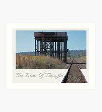 The Train Of Thought Art Print