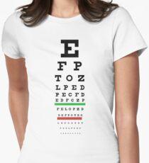 Eye Chart Women's Fitted T-Shirt