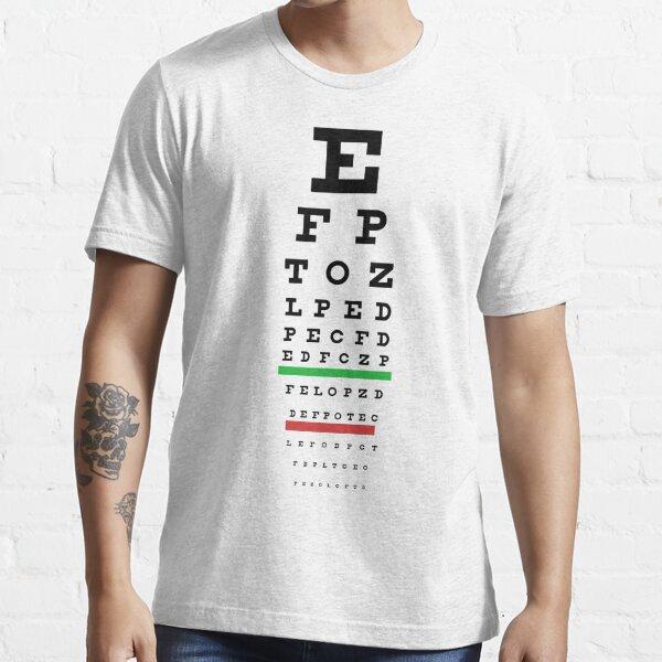 Eye Chart Essential T-Shirt