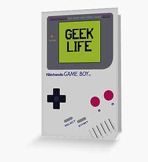 Game Boy Geek Life Greeting Card