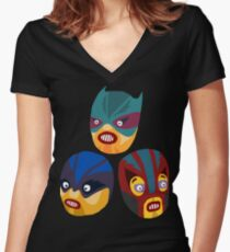 Superheroes Women's Fitted V-Neck T-Shirt