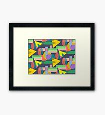 Playful I Pattern  Framed Print