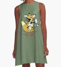 Metal Gear Solid 1 - Foxhound (toon) A-Line Dress
