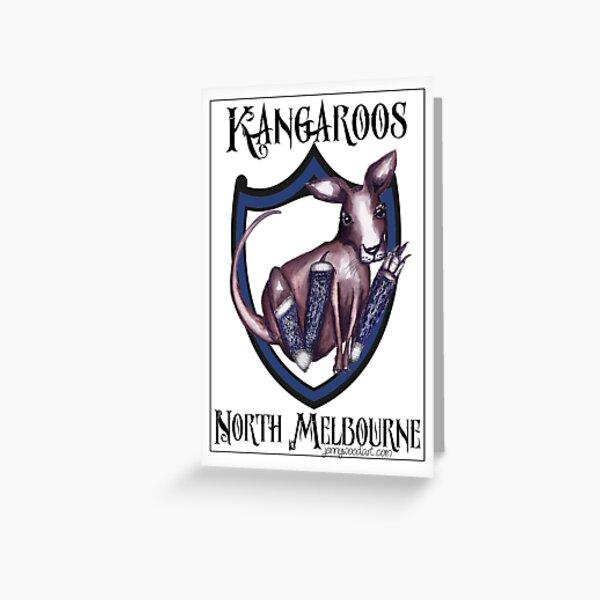 North Melbourne AFL Kangaroos Greeting Card