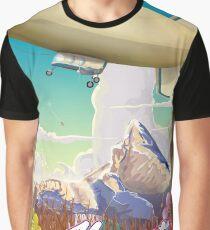 Mount Assiniboine Blimp vacation poster  Graphic T-Shirt