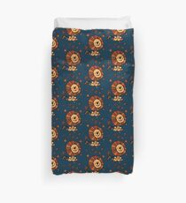 Cute Cartoon Lion Dream by Cheerful Madness!! Duvet Cover