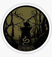 cernunnos- the pagan horned god Sticker