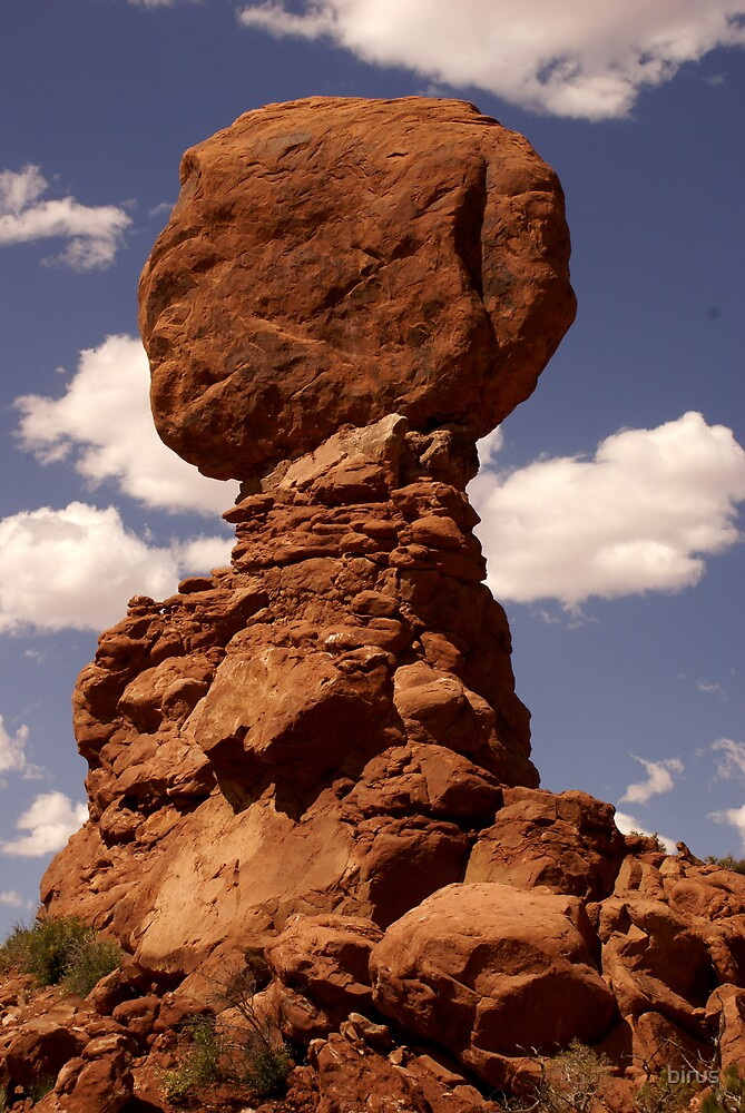 balanced rock in the sky by birus
