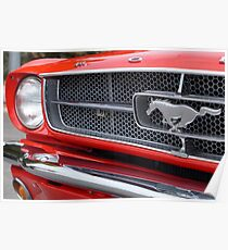1965 Ford Mustang Grill Poster