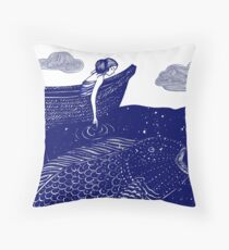 The Blue Shimmering Sea Lights Throw Pillow