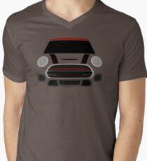 Red MINImalism Men's V-Neck T-Shirt