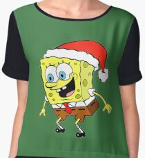 Spongebob Christmas Chiffon Top