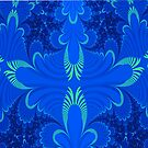 Blue wings abstract art by 4Flexiway