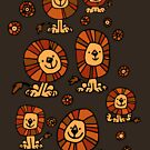 Cute Flower Cartoon Lions by Cheerful Madness!! by cheerfulmadness