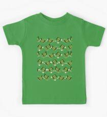 Green butterflies pattern Kids Tee