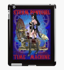 Steampunk Pony Girl Time Machine iPad Case/Skin