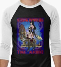 Steampunk Pony Girl Time Machine Men's Baseball ¾ T-Shirt