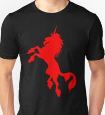 Red Unicorn by Cheerful Madness!! Unisex T-Shirt