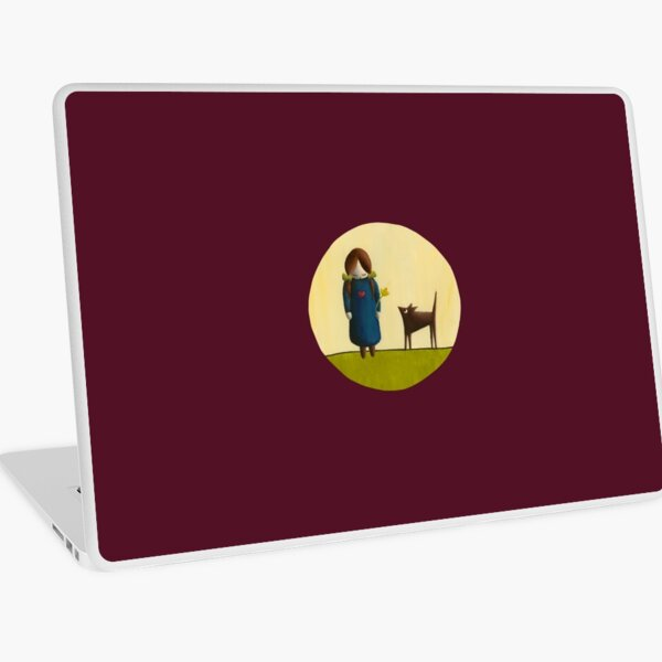 Between the Line – Girl with Dog Friend Laptop Skin