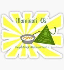 Illuminati-O's - They're Magically Suspicious! Sticker