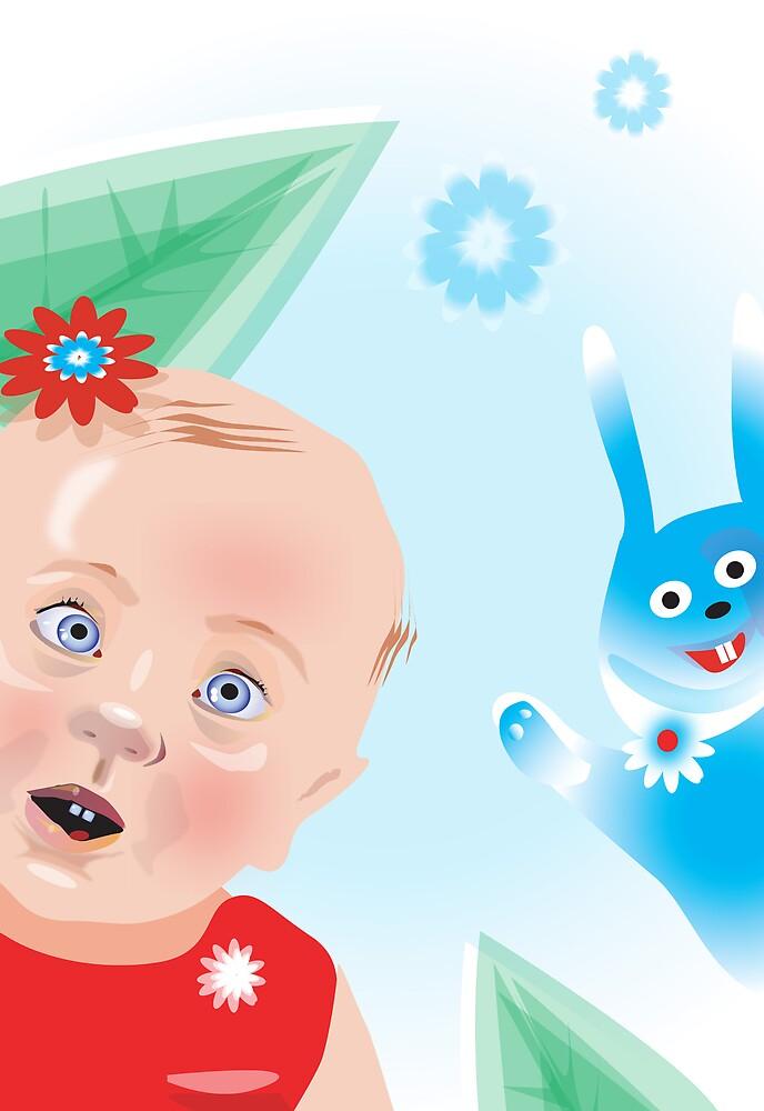 rabbit and child by yabloko4