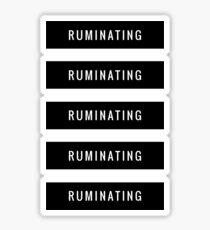 RUMINATING 5 stickers Sticker