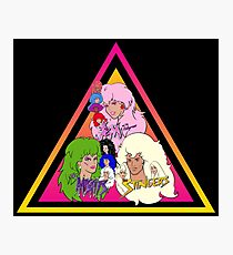 Jem and the Holograms + The Misfits meet The Stingers! Photographic Print