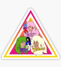Jem and the Holograms + The Misfits meet The Stingers! Sticker