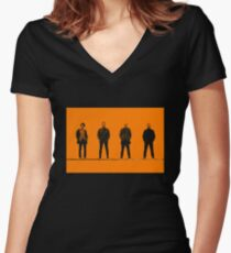 T2 Characters Women's Fitted V-Neck T-Shirt