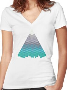 Many Mountains Women's Fitted V-Neck T-Shirt