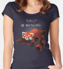 Red panda day Women's Fitted Scoop T-Shirt