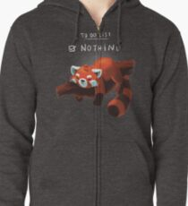 Red panda day Zipped Hoodie