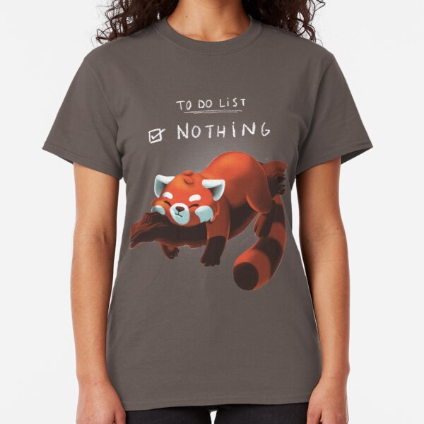 Red panda day Camiseta clásica