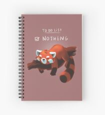 Red panda day Spiral Notebook