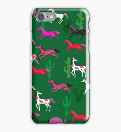 Wild Horses pattern iPhone Case/Skin